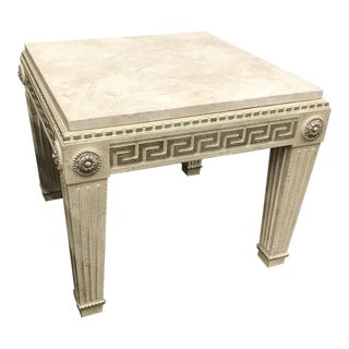 Marge Carson Hollywood Regency Granite End Table For Sale