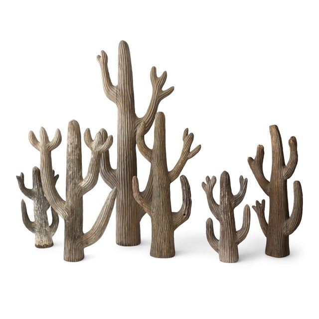 Wood Belgian Cactus Sculpture For Sale - Image 7 of 8