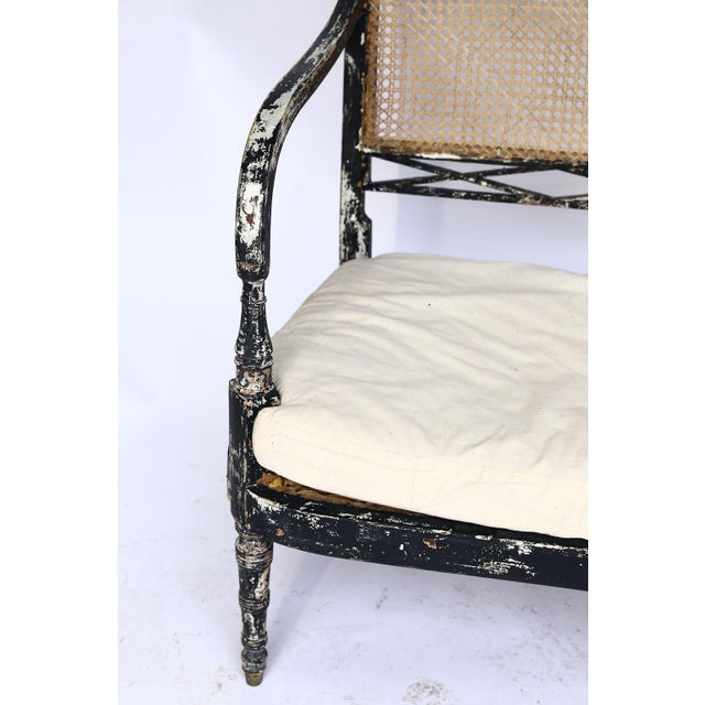 Late 19th Century Swedish Cane Back Settee For Sale - Image 5 of 13
