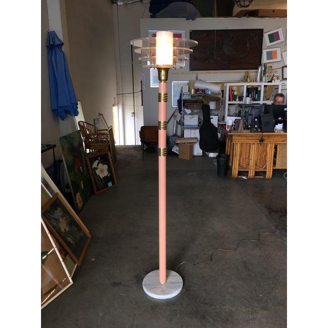 Memphis Art Deco Revival Memphis Style Floor Lamp, Circa 1980 For Sale - Image 3 of 10