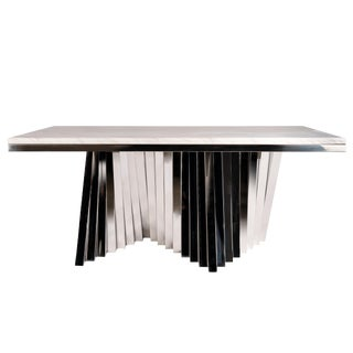 Waterfall Marble Top Dining Table For Sale