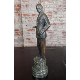 Bruno Zach - Elegant Gentleman -Beautiful Art Deco Bronze Sculpture-C.1930s Preview