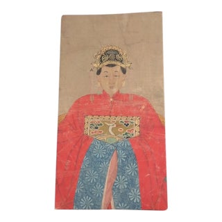 """19th C. Chinese """"The Dowager"""" Painting For Sale"""
