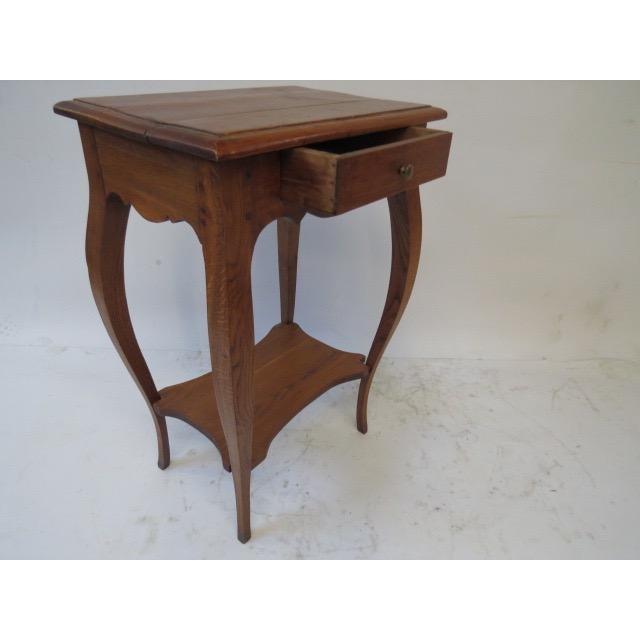 Antique Oak Side Table - Image 4 of 7