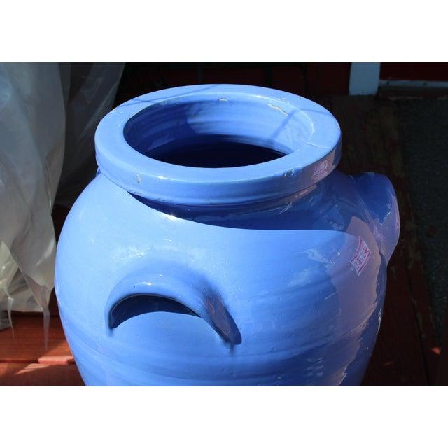 1920s Huge Pickrull Zanesville Norwalk Pot Shop Urn Pottery Arts & Crafts Floor Vase For Sale - Image 5 of 12