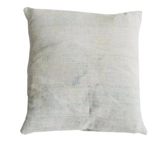 Faded Powder Blue Indigo Pillow For Sale