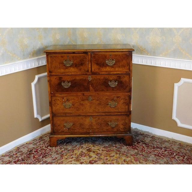 Antique American Walnut & Elm Bedroom Chest - Image 4 of 10
