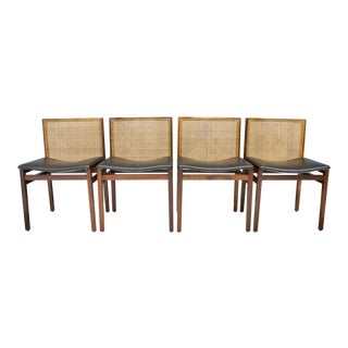 Rare Set of Four Tito Agnoli Dining Room Chairs, Italy, 1960s For Sale