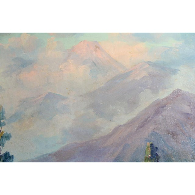 Blue Martella Cone Lane -California Landscape -Oil Painting -Impressionist C.1920s For Sale - Image 8 of 9