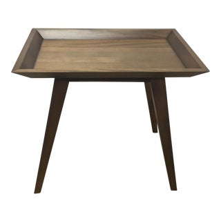 Walnut Wood Side Table For Sale