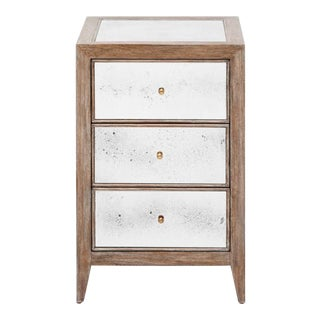 Made Goods Modern Mirrored Mia Nightstand For Sale