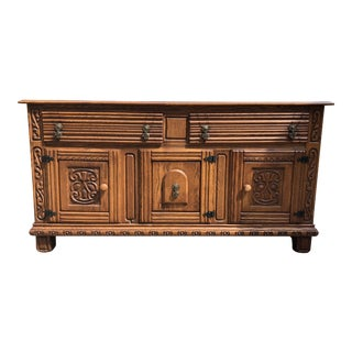 Nordic Restored Oak Tudor Buffet