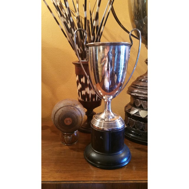 Large Silver Horse Riding Trophy - Image 3 of 4
