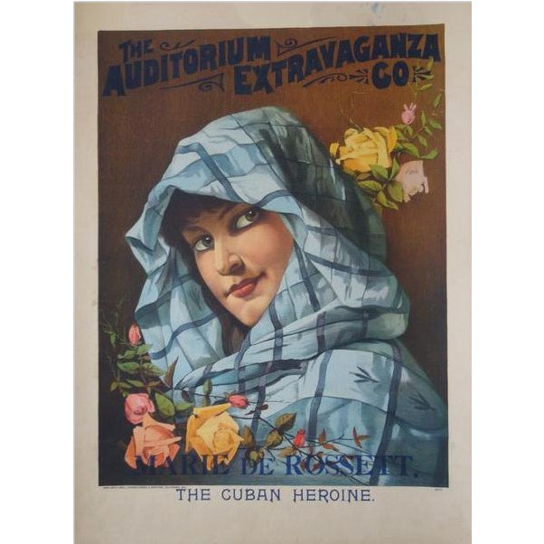 1900 Original American Art Nouveau Poster, the Cuban Heroine For Sale