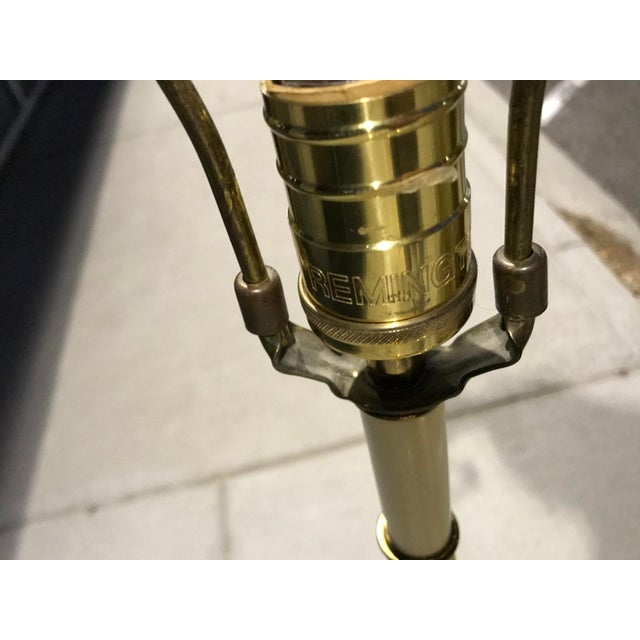 Vintage Brass Swing-Arm Lamp With Original Paper Shade by Remington For Sale - Image 12 of 13