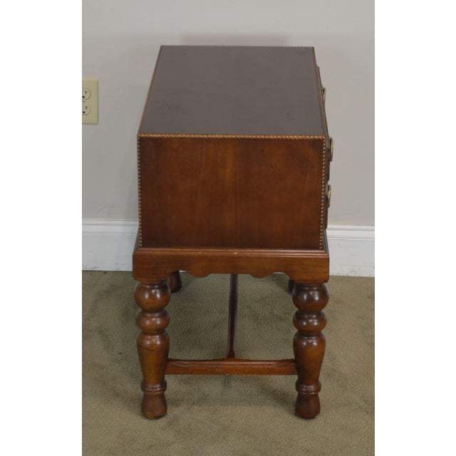 Sherrill Furniture Sherrill Occasional Small Cherry One Drawer Side Table For Sale - Image 4 of 12
