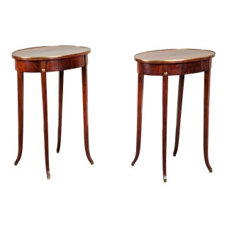 Pair of Early 19th Century Swedish Gustavian Side Tables For Sale