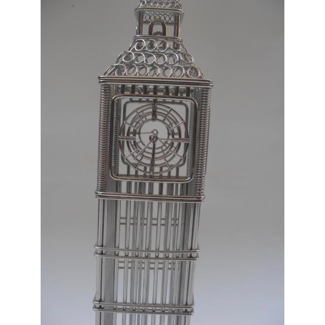 Wire Big Ben Clock Tower Model For Sale - Image 4 of 5