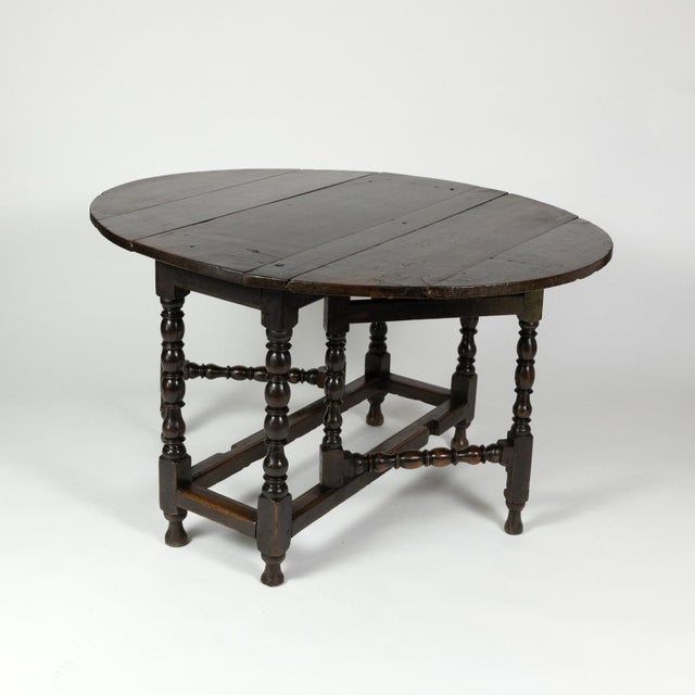 Early 19th Century Handsome English Oak Gateleg Table With Bobbin Turned Legs, Wonderfully Rich Patination, Circa 1800. For Sale - Image 5 of 13