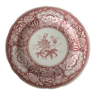 """The Spode Archive Collection """"Floral"""" C. 1830 Dinner Plate in Pink For Sale"""