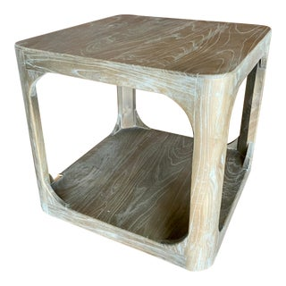 Restoration Hardware Martens Square Side Table For Sale