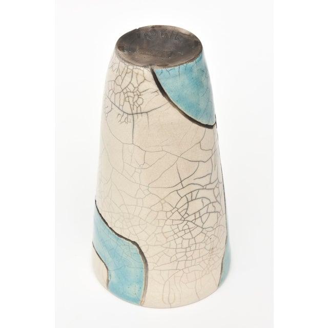 Vintage Raku Ceramic Nude Vase, Signed For Sale - Image 9 of 11