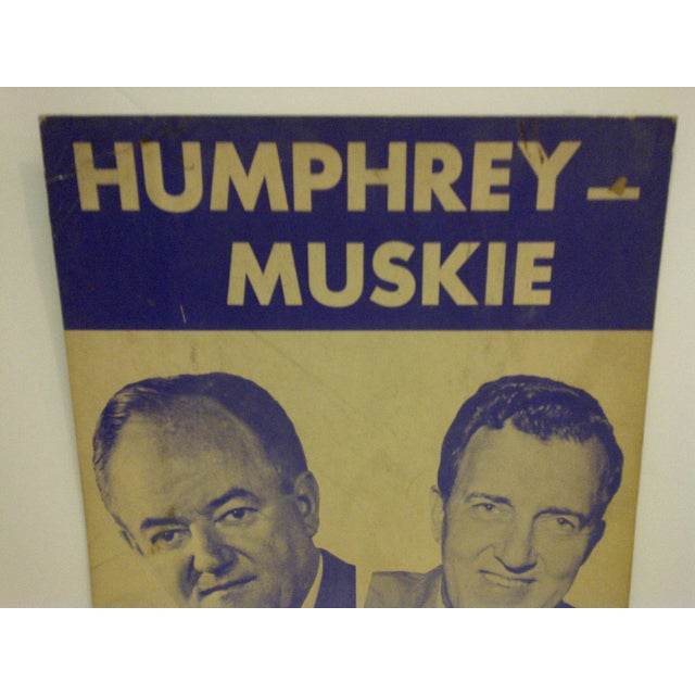 Mid-Century Modern Vintage Presidential Campaign Poster, 1968 For Sale - Image 3 of 6