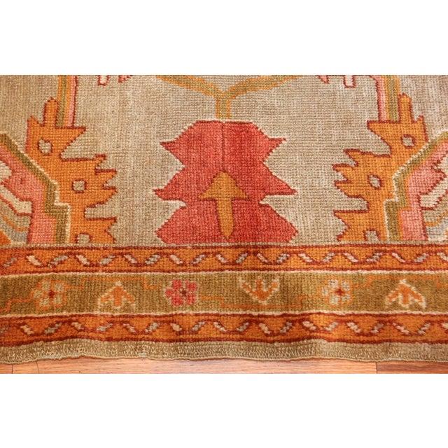 Islamic Antique Turkish Oushak Square Rug - 3′10″ × 4′ For Sale - Image 3 of 10