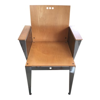Modernist Steel Frame Chair For Sale