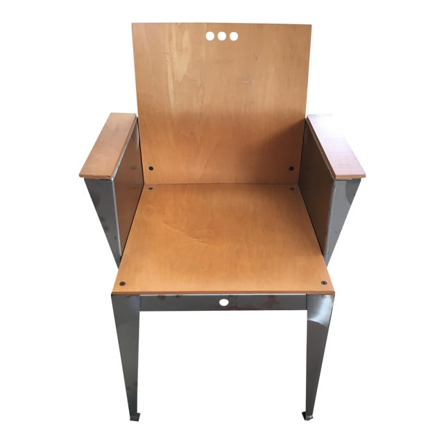 Modernist Steel Frame Chair - Image 1 of 9