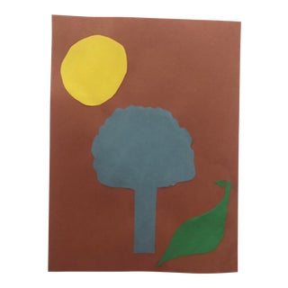 Fowl, Tree and Moon Collage by James Bone 1999 For Sale