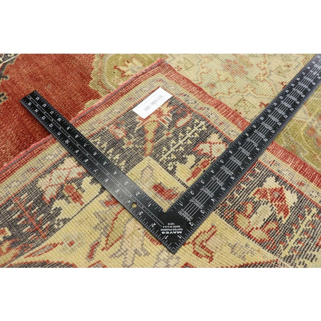 Mid 20th Century Vintage Turkish Oushak Runner - 03'08 X 11'01 For Sale - Image 5 of 10