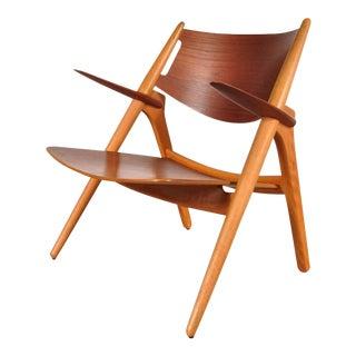 Sawbuck Easy Chair by Hans J. Wegner for Carl Hansen & Son, Denmark, circa 1951