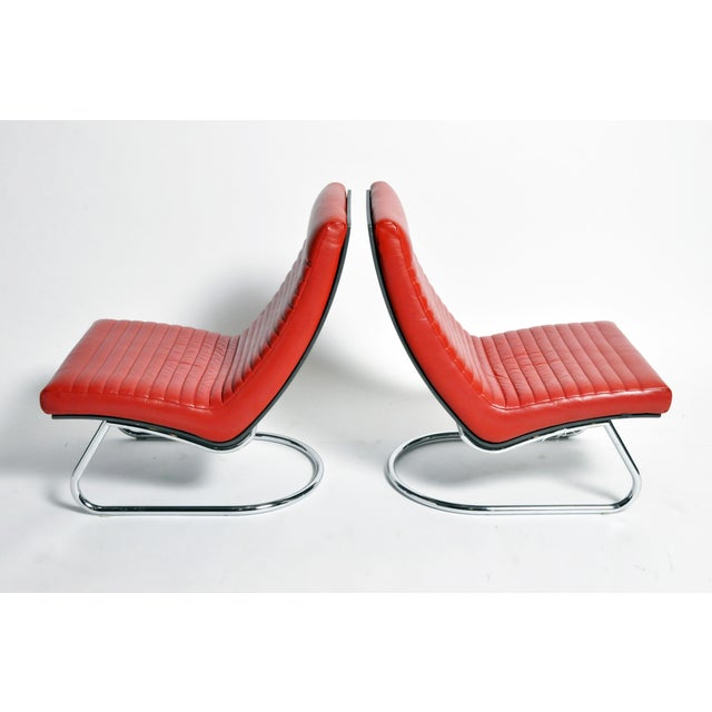 Made in the Netherlands, these leather and chrome loungers have the breezy sophistication one associates with yacht...