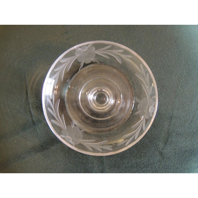 1960s Vintage Cut Crystal Footed Candy Dish For Sale - Image 5 of 6