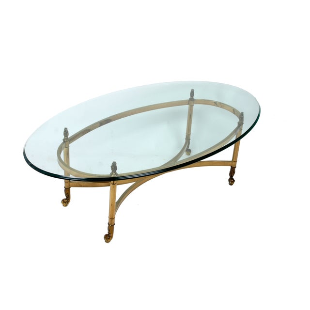 Decorative French Glass & Brass Table - Image 2 of 10
