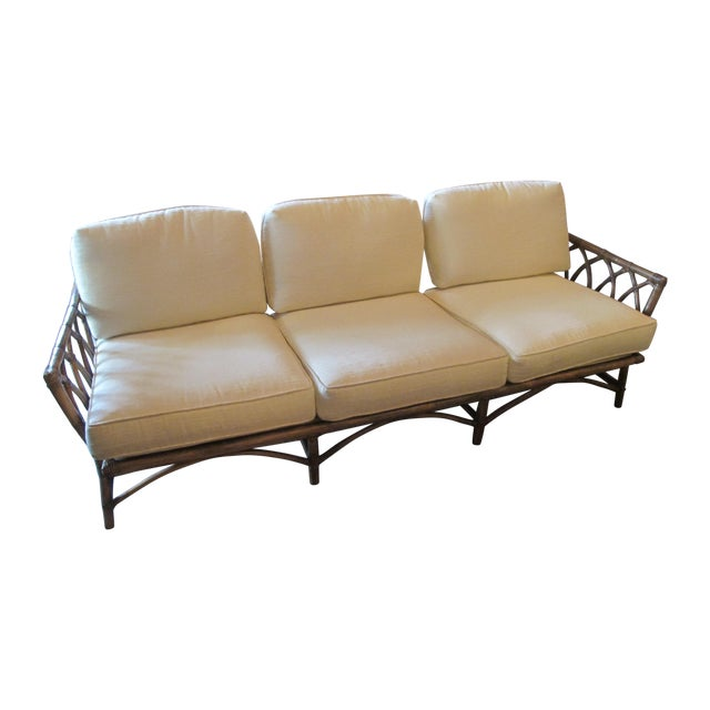 Vintage McGuire Cathedral Back Sofa - Image 1 of 5