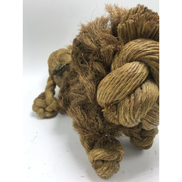 1960s Mid-Century Danish Braided Rope Lion For Sale - Image 10 of 13