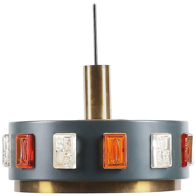Mid-Century Modern Pendant by Erik Hoglund, 2 Available For Sale - Image 3 of 3