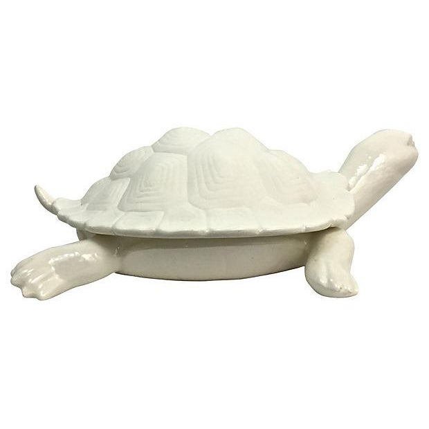 Hand-Cast Ceramic Turtle Bowl With Shell Lid - Image 4 of 9
