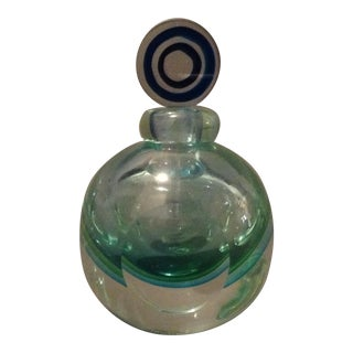 1980's Murano Glass Perfume Sommerso Style Bottle For Sale