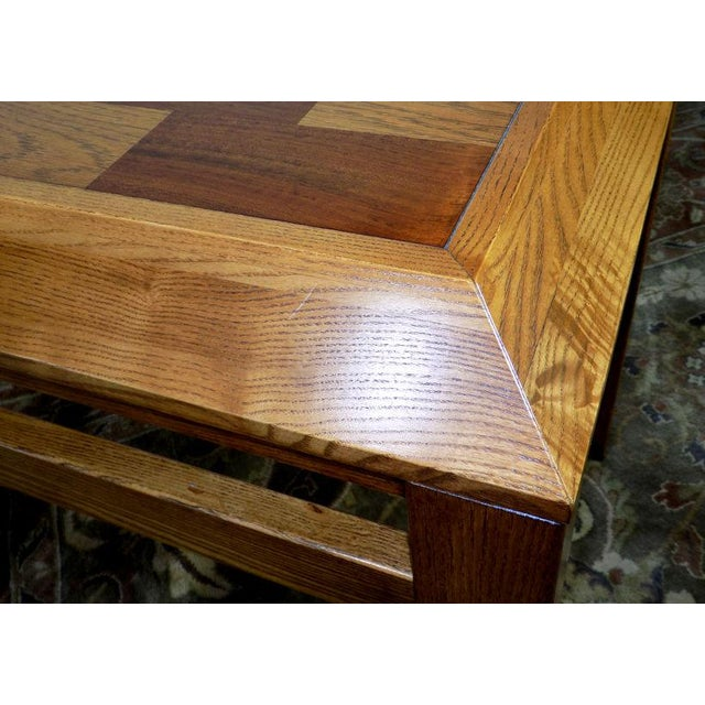 Lane Oak & Walnut Parquet Top End Table For Sale - Image 11 of 12
