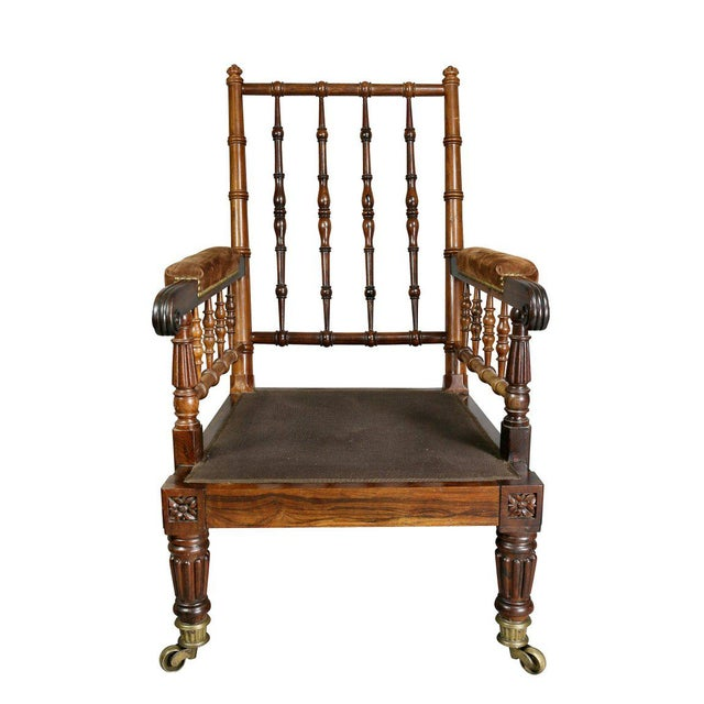 English Traditional George IV Rosewood Bergere Chair by Gillows For Sale - Image 3 of 12