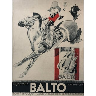 Original French Art Deco Tobacco Advertisement, Rene Vincent For Sale