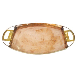 A Brass and Copper Tray by Serrurier-Bovy