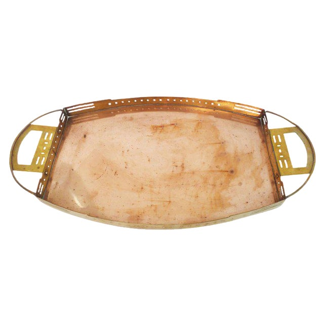 A Brass and Copper Tray by Serrurier-Bovy For Sale
