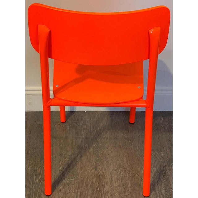 Declercq Mobilier Modern Ml45 Neon Red Chairs - Set of 6 For Sale - Image 9 of 13
