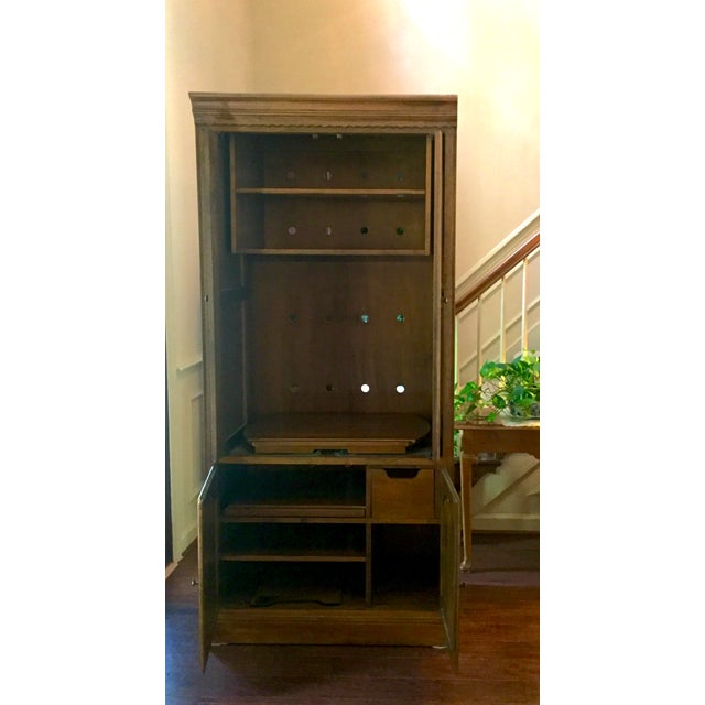 Vintage Ethan Allen Entertainment Cabinet For Sale - Image 5 of 9