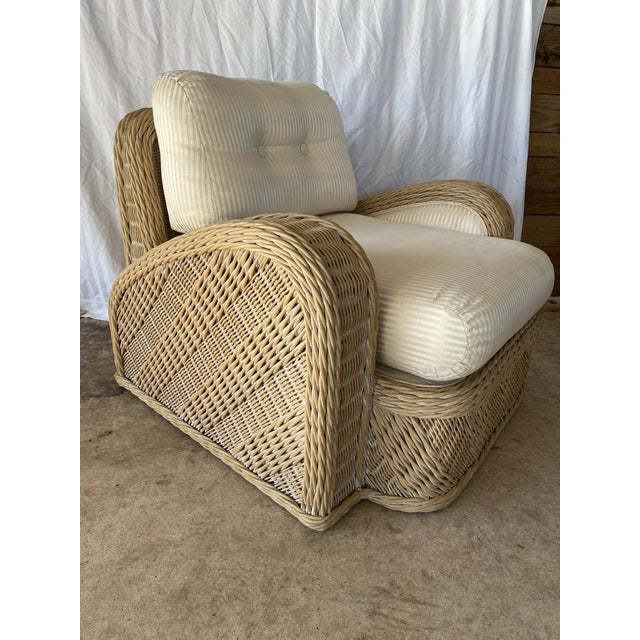 Coastal Wicker Braid Lounge Chair For Sale - Image 13 of 13