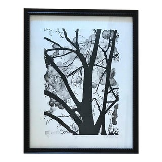 """S. Acheson """"Silhouette"""" Signed & Framed Limited Edition Etching Print For Sale"""